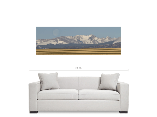 moon colorado panorama canvas art