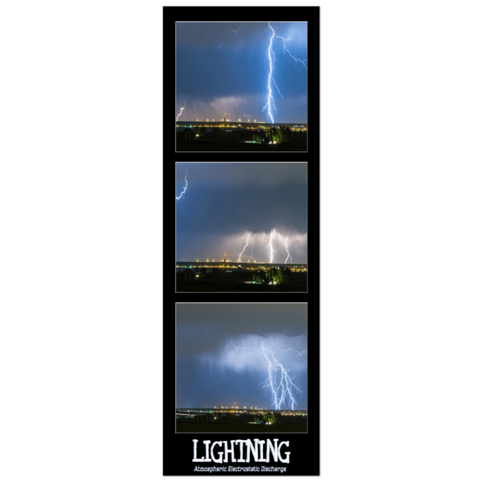 Lightning panorama canvas wrap art