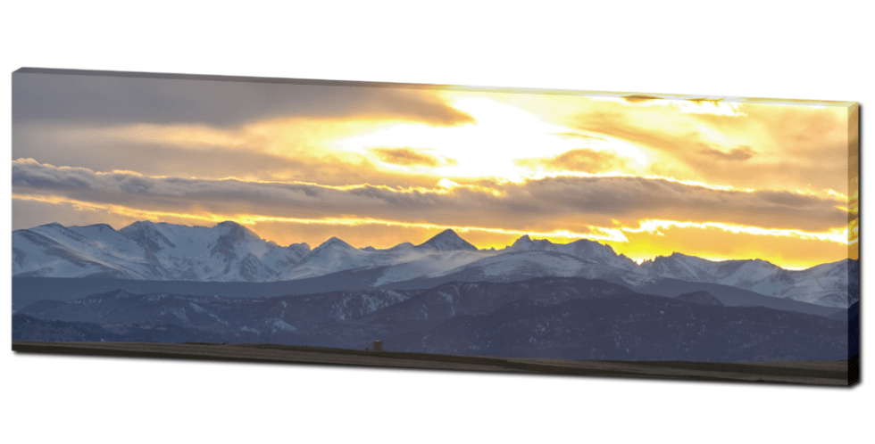 rocky mountains panorama canvas art