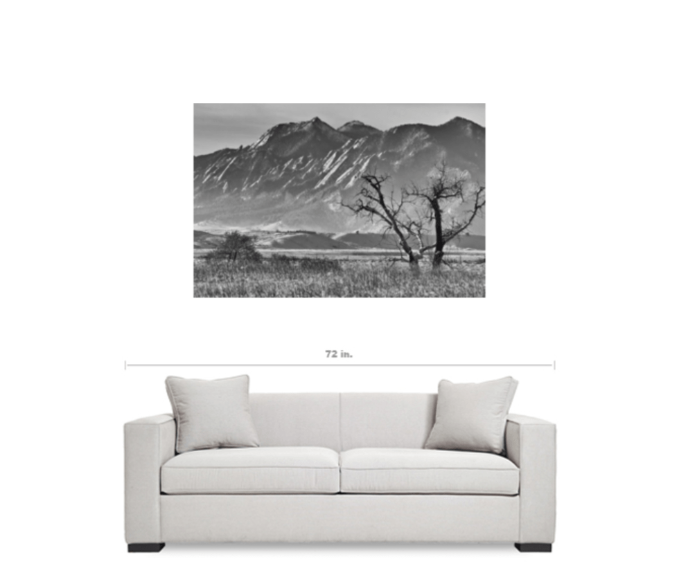 Colorado Black and White Canvas Art