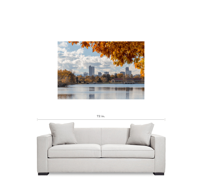 Denver Skyline Canvas Art