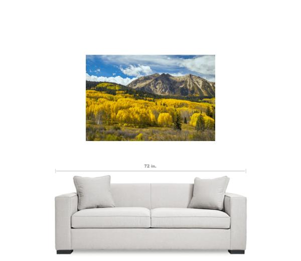 "Colorado Rocky Mountain Fall Foliage 32""x48""x1.25"" Premium Canvas Gallery Art Wrap"