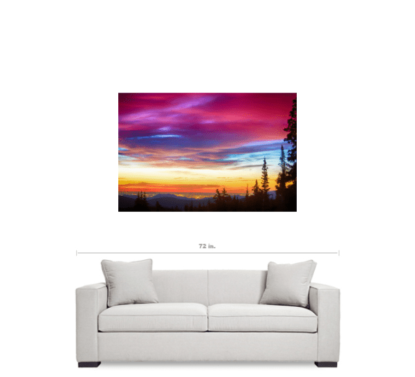 "City Lights Sunrise View From Rollins Pass 32""x48""x1.25"" Premium Canvas Gallery Wrap Art"