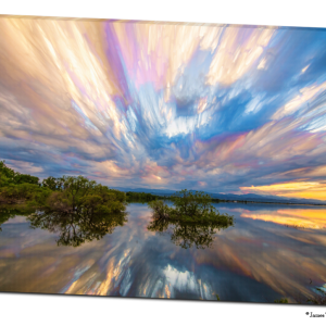 Sunset  Lake Reflections Timed Stack 32″x48″x1.25″ Premium Canvas Gallery Wrap Art