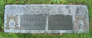 Alfred George and Clara V gravestone
