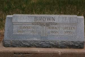 Horace Greely Brown Grave