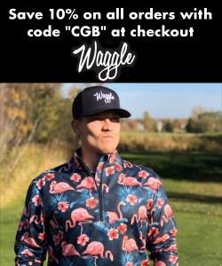 waggle golf ad