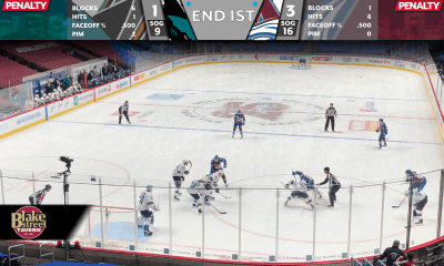 Avs - Sharks 1st period 1/26