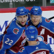 Conor Timmins celebrates, Avs win 5/1/2021