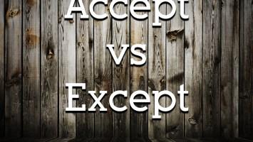 Equestrian Grammar - Accept vs Except