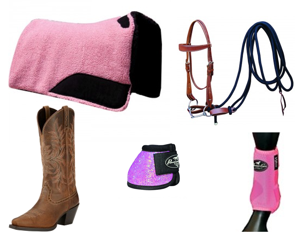 Pink and Tan Western Tack Collection - Colorado Horse Forum