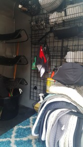 Finished Horse Trailer with Gridwall - Note how many saddle pads fit on the C-Bar