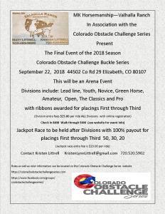 Colorado Obstacle Challenge Series @ Colorado Obstacle Challenge Series Final Event of 2018 Season |  |  |