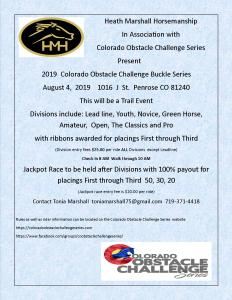 Colorado Obstacle Challenge Series @ Heath Marshall Horsemanship |  |  |