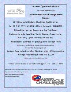 Colorado Obstacle Challenge Series @ Acres of Opportunity Ranch |  |  |