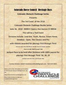 Colorado Obstacle Challenge Series @ Heritage Days |  |  |