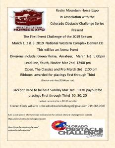 Colorado Obstacle Challenge Series @ Rocky Mountain Horse Expo |  |  |