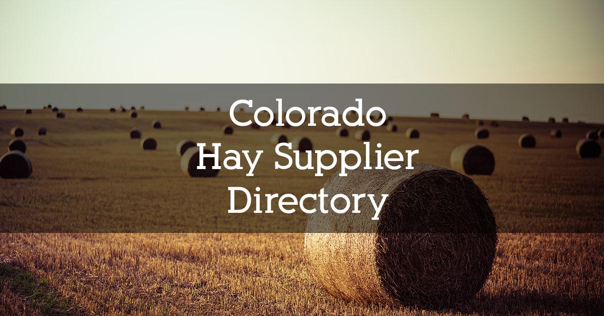 Colorado Hay Supplier Directory