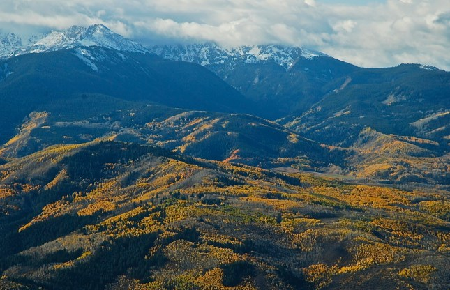 The Holy Cross Mountains in Eagle County, Colorado.