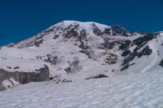 The views of the mountain got better as we approached the glacier. I stood an stared at the impressive Kautz glacier