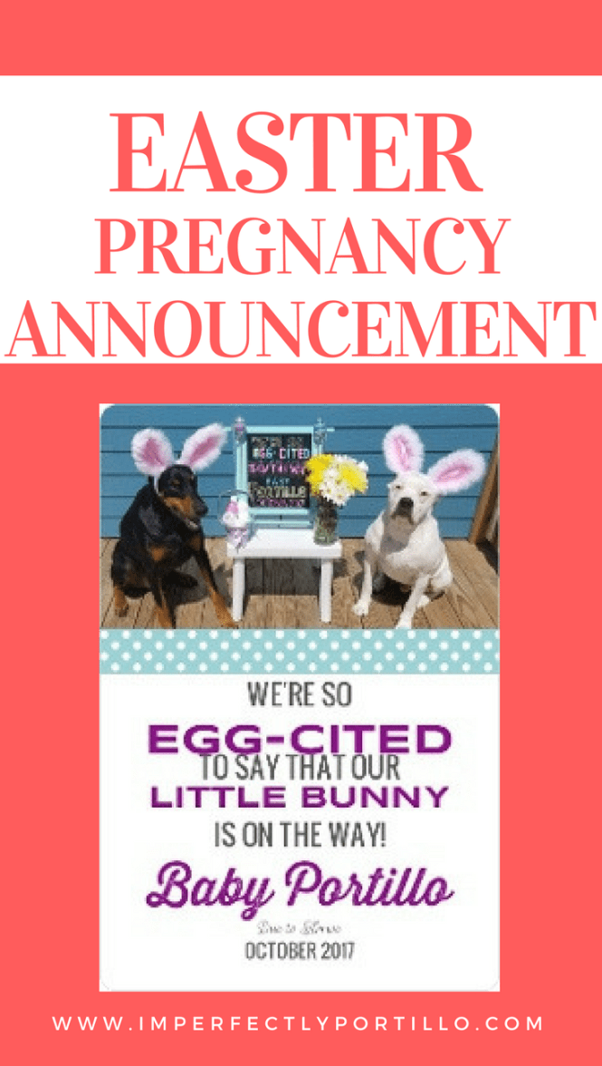 easter pregnancy announcement