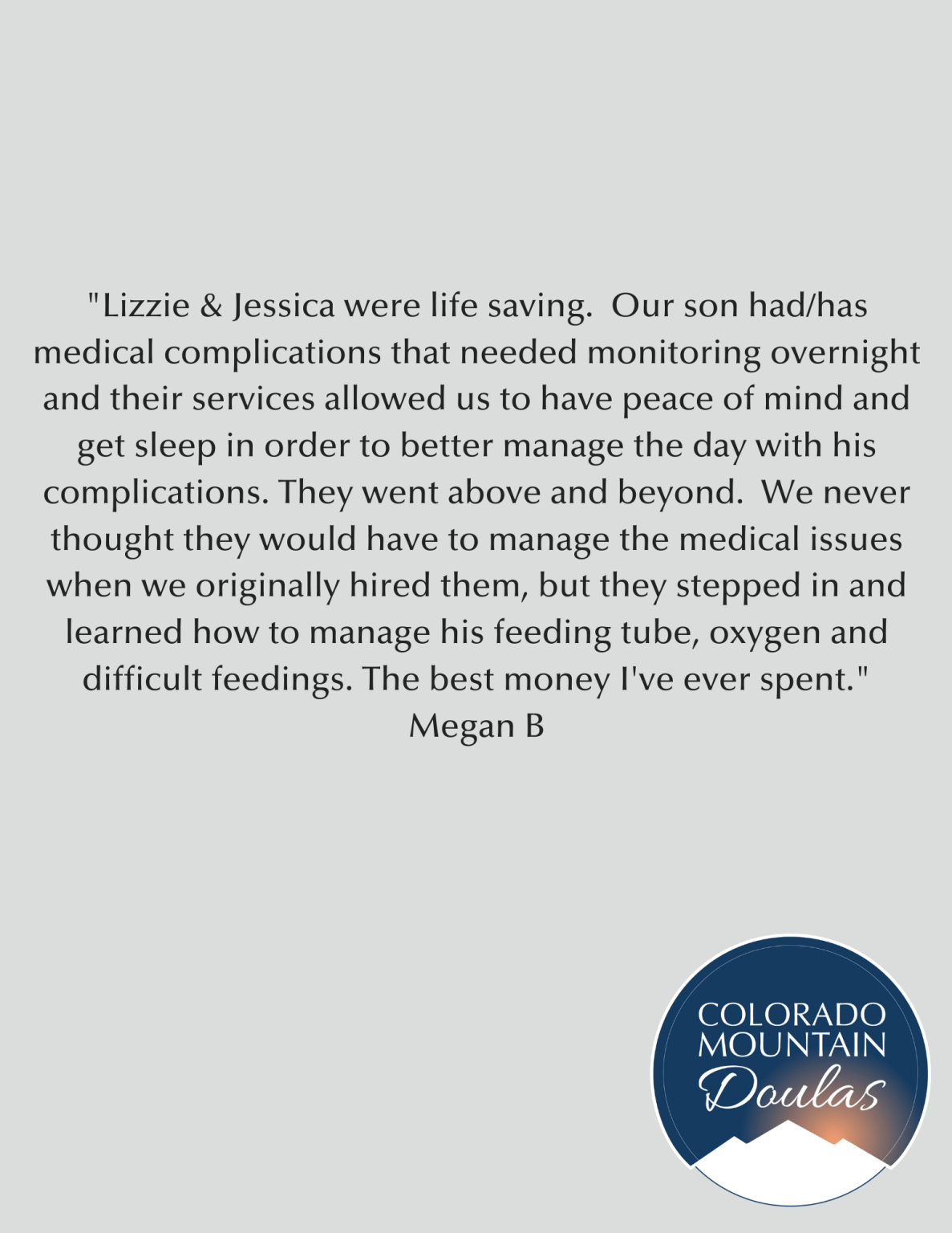 their services allowed us to have peace of mind and get sleep in order to better manage the day