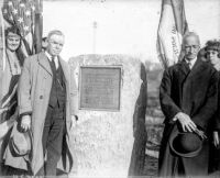 Dedication of Montana City marker. November 8, 1924.