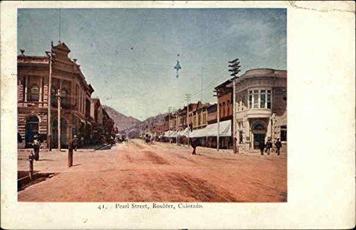 Pearl Street Boulder, Colorado Original Vintage Postcard.