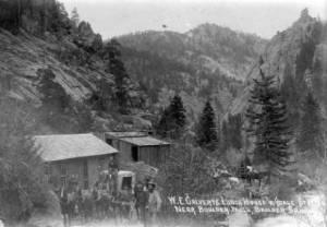 W.E. Galvert's Lunch House Near Boulder Falls 1880s
