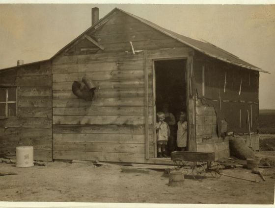 Sterling - Summer quarters of a beet worker's family on a Colorado farm, July 1915.