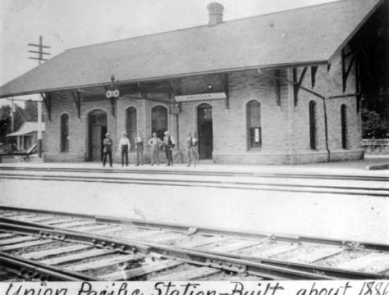 "Greeley ""Union Pacific Depot,"" built in 1886."