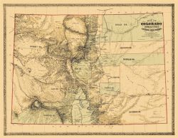 Colorado Territory - Central Gold Region 1862