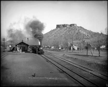 ... Castle Rock   Denver U0026 Rio Grande Railroad Passenger Train Heading South  From Stone Depot At ...