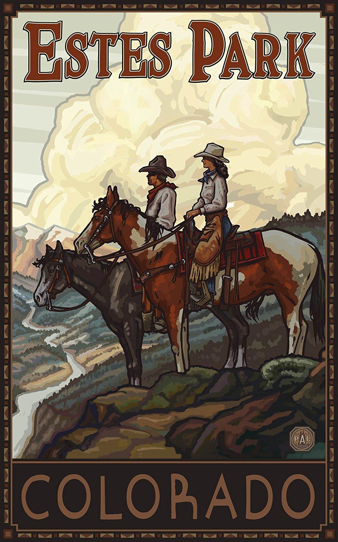 Estes Park Horse Riders Poster Art