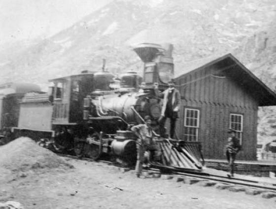X-2176 Railroad depot in Silver Plume, May 1899.