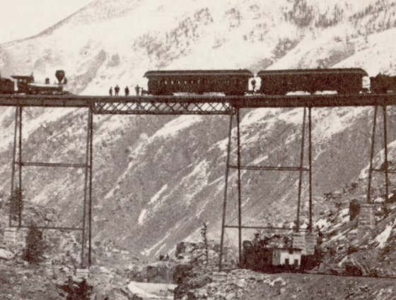 Z-2486 Panorama of Devil's Gate viaduct, Ry. Georgetown to Silver Plume, 1880s.
