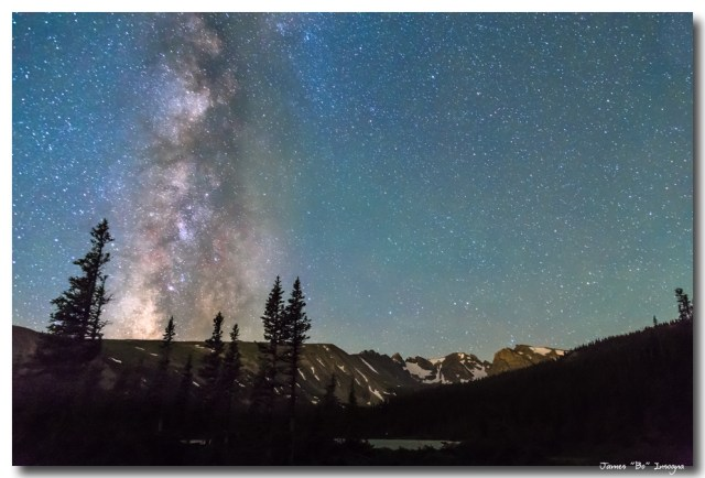 Middle of the Night Milky Way Above the Rocky Mountains
