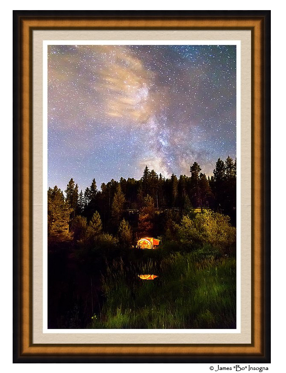 Milky way wings framed art print
