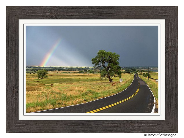 Rainbow Road Framed Print