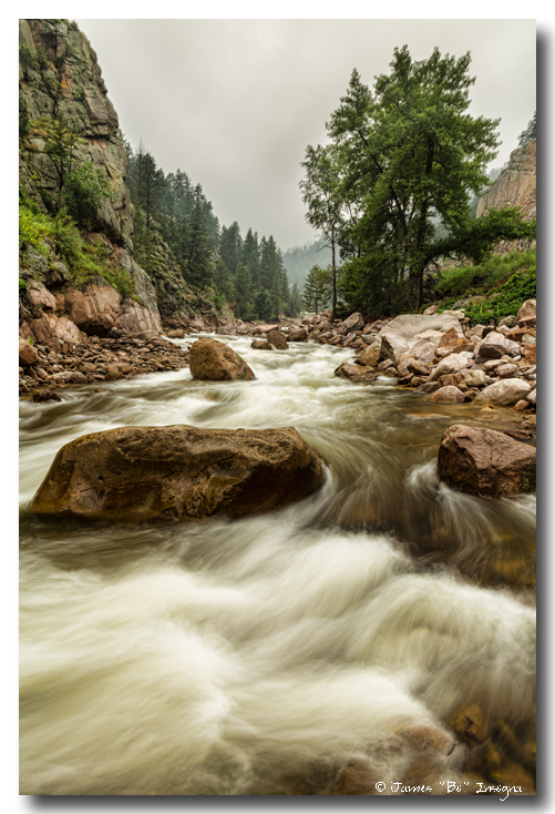 South St Vrain Canyon Portrait Boulder County Colorado