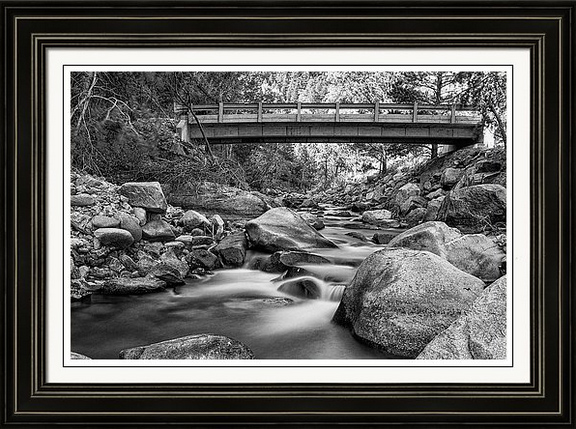 The Crossing In Black And White Framed Fine Art Print
