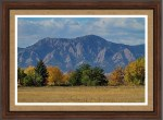 Boulder Colorado Autumn Flatiron Afternoon Framed Print