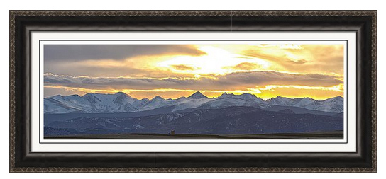 Colorado Front Range Panorama Gold Framed Print