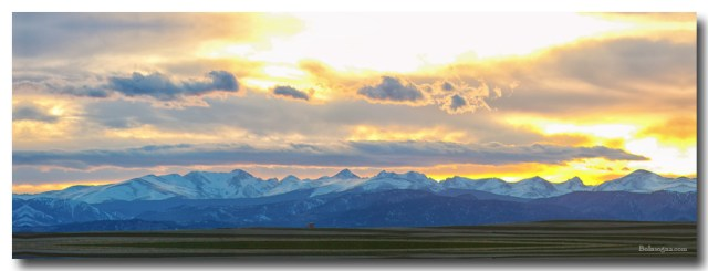 Rocky Mountain Lookout Sunset Panorama