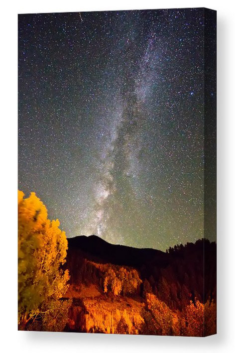 Autumn Milky Way Night Sky Canvas Print