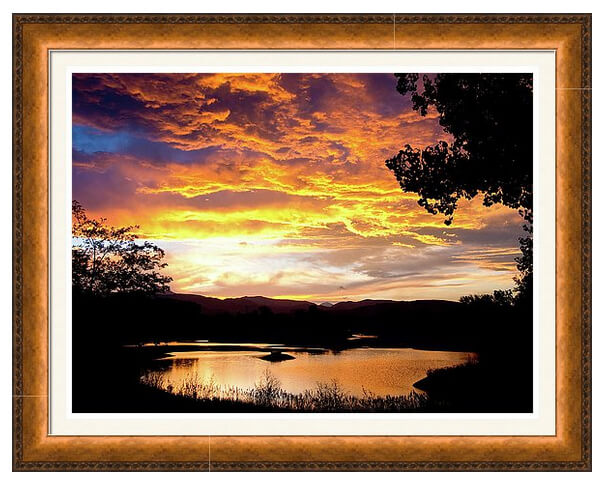 Colorado July Sunset Framed Print