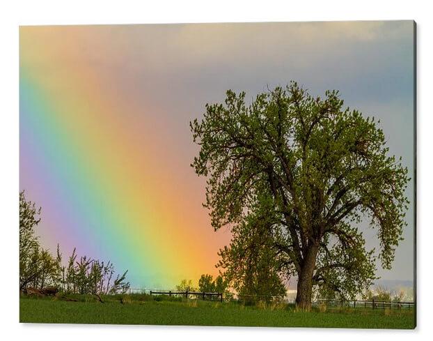 Colorful Optic Rainbow Sky Acrylic Print