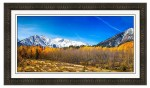 Independence Pass Autumn Pano 1 Framed Print