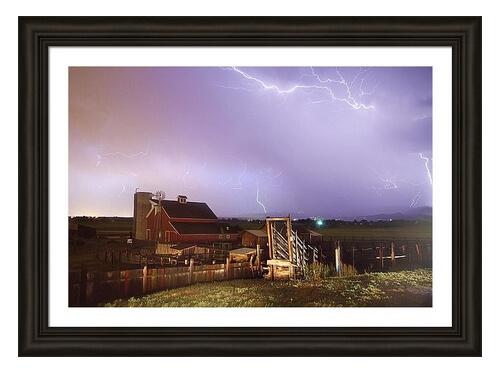 Storm On The Farm Framed Print