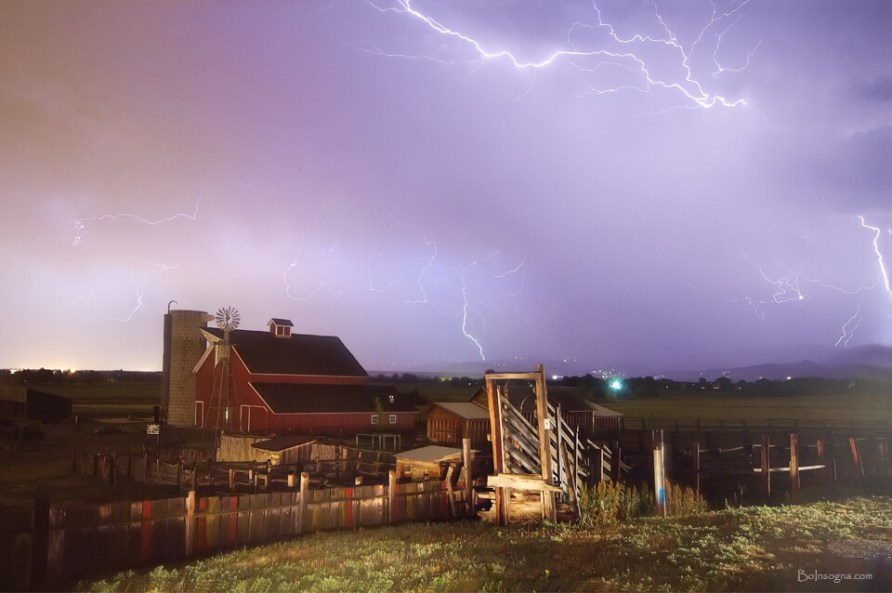 Thunderstorm Down On The Farm Art Prints